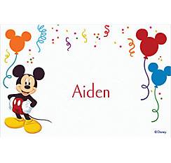 Mickey Mouse Party Custom Thank You Note