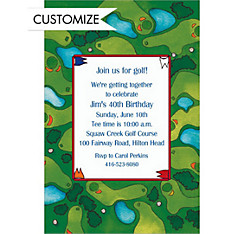 Golf Course Custom Invitation