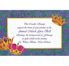 Crowns Custom Mardi Gras Invitations