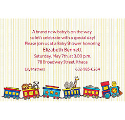 Little Train Custom Baby Shower Invitation