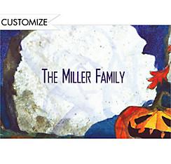 Spooky Tombstone Halloween Custom Thank You Note