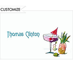 Funky Cocktails Custom Thank You Note
