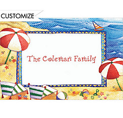 Day at the Beach Custom Thank You Note