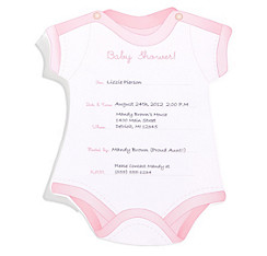 Pink Snapsuit Baby Shower Invitations 8ct