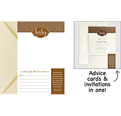 Advice Printable Baby Shower Invitations 25ct