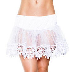 Adult White Teardrop Petticoat