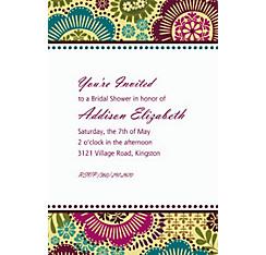 Fashion Floral Custom Invitation