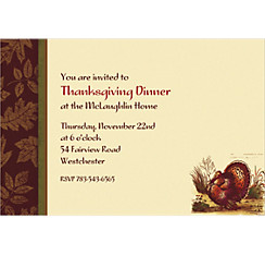Thanksgiving Sophistication Custom Invitation