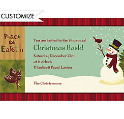 Green Season Custom Christmas Invitation