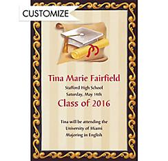 Custom White Grad Portrait Announcements