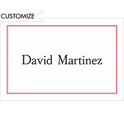Red Dot & Line Custom Graduation Thank You Notes