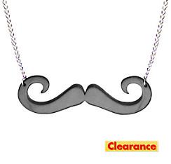 Black Moustache Necklace 15in