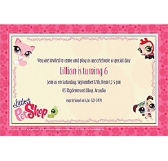 Littlest Pet Shop Custom Invitation