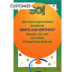Life is Great 50 Custom Invitation
