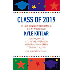 Custom Bright Grad Invitations