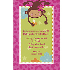 Monkey Love Custom Invitation