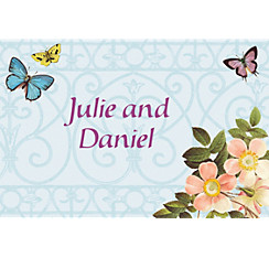 Custom Butterfly Dreams Wedding Thank You Notes