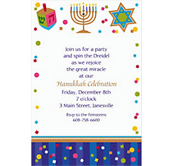 Hanukkah Celebrations Custom Invitation