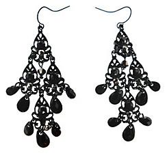 Black-On-Black Earrings
