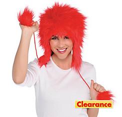 Red Fuzzy Peruvian Hat