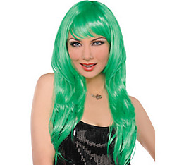 Glam Green Wig