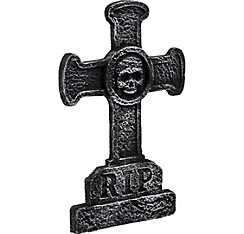 Classic Cross Tombstone Decoration