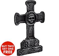 Classic Cross Tombstone Decoration
