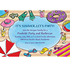Poolside Soiree Custom Invitation