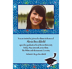 Custom Dazzling Grad Photo Invitations