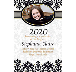 Custom Black & White Congrats Grad Photo Announcements