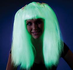 Ravewear Glow In The Dark Pigtail Wig