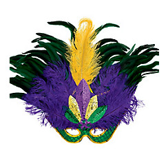 Masquerade Feather Mardi Gras Mask Deluxe