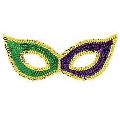 Sequin Mardi Gras Cat Mask