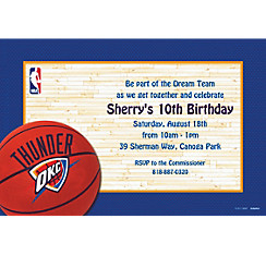 Oklahoma City Thunder Custom Invitation
