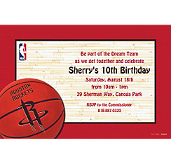 Houston Rockets Custom Invitation