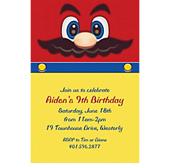 Mustache Man Custom Invitation