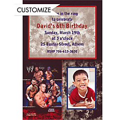 WWE Custom Photo Invitation