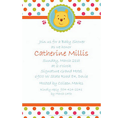Winnie the Pooh Baby Shower Custom Invitation
