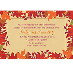 Festive Fall Custom Invitation
