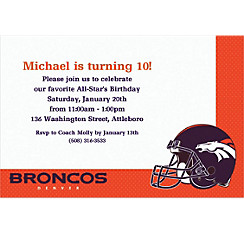 Denver Broncos Custom Invitation