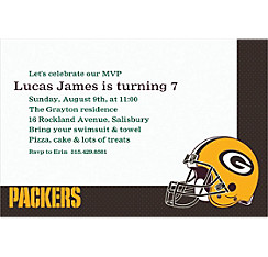 Green Bay Packers Custom Invitation