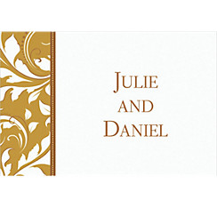 Golden Custom Wedding Thank You Note