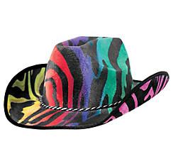 Rainbow Suede Cowboy Hat