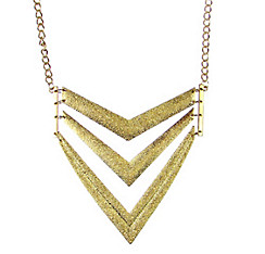Gold V Pendant Necklace