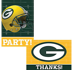 Green Bay Packers Invitations & Thank You Notes For 8