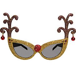 Gold Glitter Reindeer Antler Sunglasses