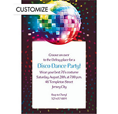 Disco Fever Custom Invitation