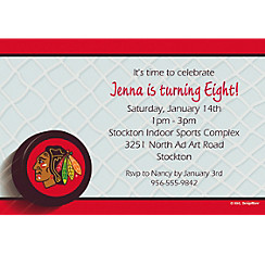 Chicago Blackhawks Custom Invitation