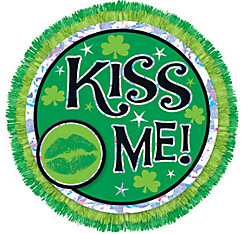 Kiss Me St. Patrick's Day Button