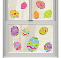 Glitter Vinyl Easter Window Decorations 11ct